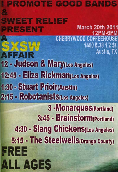 ROBOTANISTS @ I promote Good Bands / Sweet Relief Day Party @ SXSW - 3.20.2011