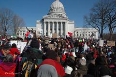 Pro-Labor Rally - Madison - March 12