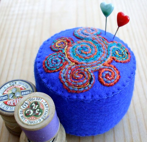 Celtic Spirals pincushion