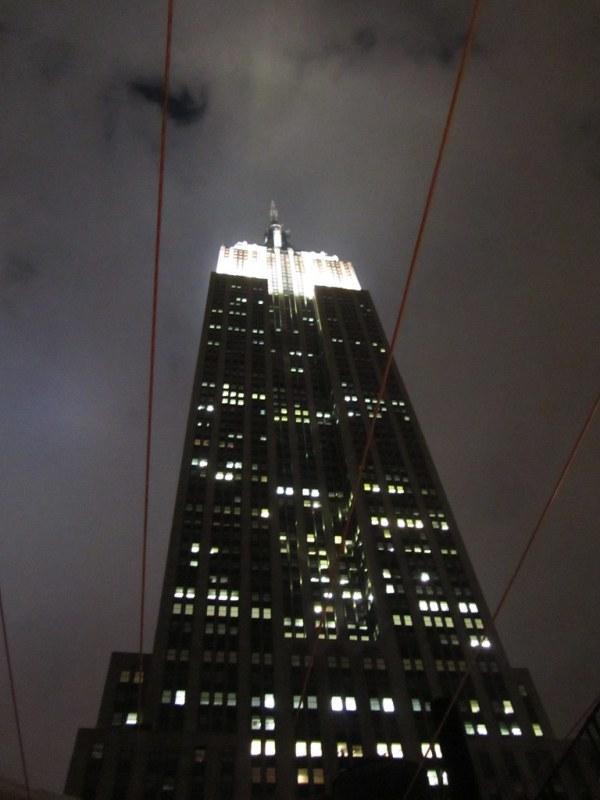 Empire State Building: winter night