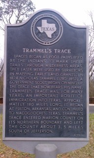 Trammel's Trace, Jefferson, Texas Historical M...