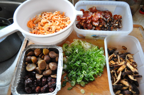 Eight Treasure Rice - Assembled ingredients for stuffing
