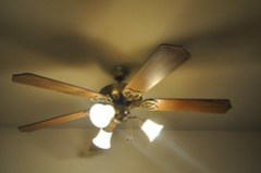 Entryway ceiling fan