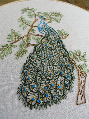 Peacock embroidery 2
