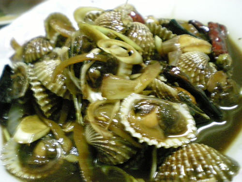 Muhibbah - fried clams in soy sauce