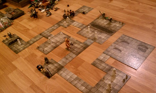 HeroQuest w/ LEGO figs and D&D tiles...