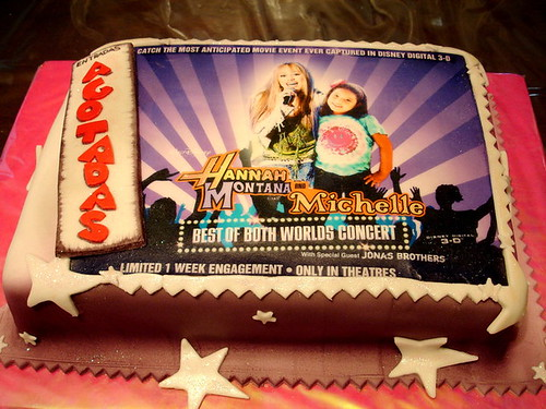 Hannah Montana & Birthday Girl Cake
