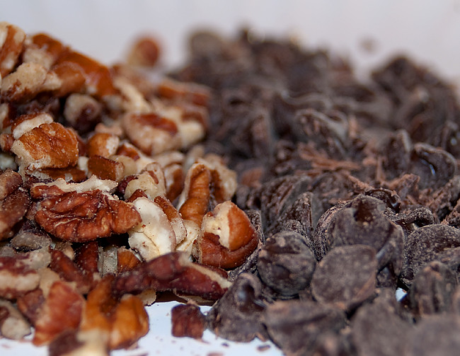 chocolate and pecans