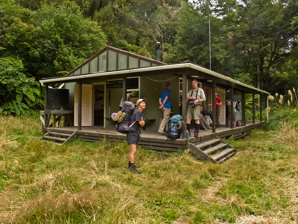 Leaving the Central Whirinaki Hut