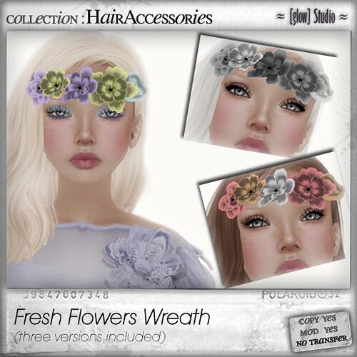 [ glow ] studio Fresh Flowers wreath