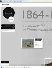 Web výstavy Monet 2010 - detail