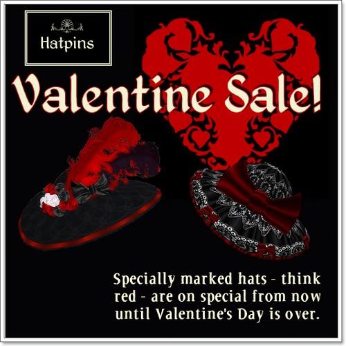 Hatpins - Valentine Sale
