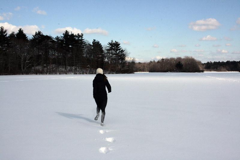 snowy pond, I