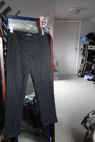 Ann Taylor Loft ; wool skinny pants
