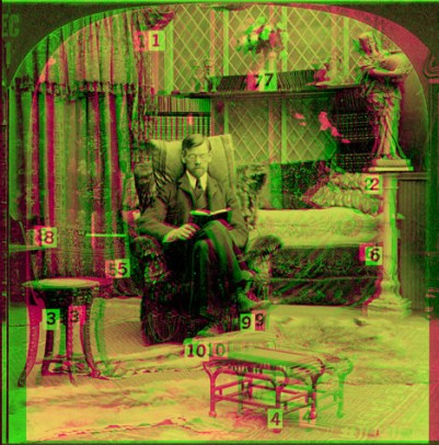 stereoscope magenta green  anaglyph