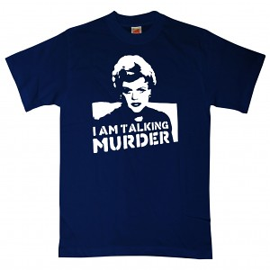 Murder She Wrote 8 Ball UK Deadly Lady T Shirt