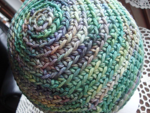 picture of spring spirals beanie, green