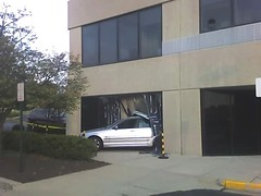 BMW from across the street now parked in mail room