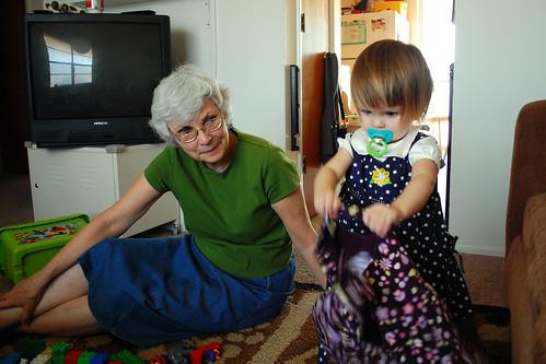 Dress-up with grandma.