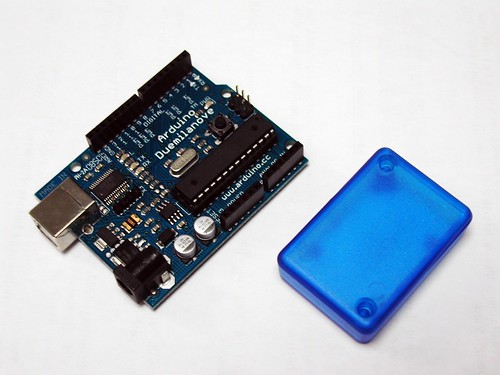 Arduino and blue box