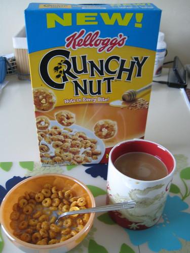 Kellog's Crunchy Nut cereal