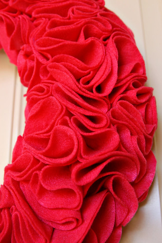 Craft Felt Ruffle Wreath See Vanessa Craft