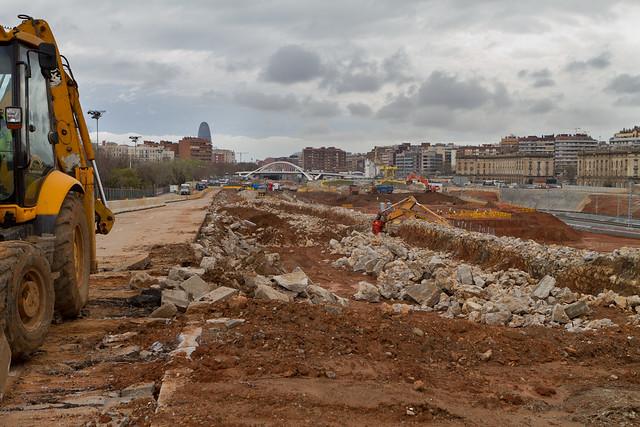 Ronda Sant Martí desde Pont del Treball - Sur - 14-03-11