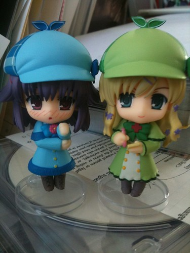 Nendoroid Petit Hercule/Elly and Cordelia with swapped bodies and caps