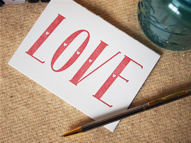 LOVE | Folded Card Red