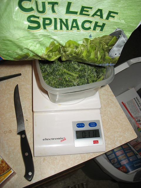 Get that spinach all measured!