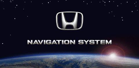 Factory Honda DVD Navigation Boot Screen