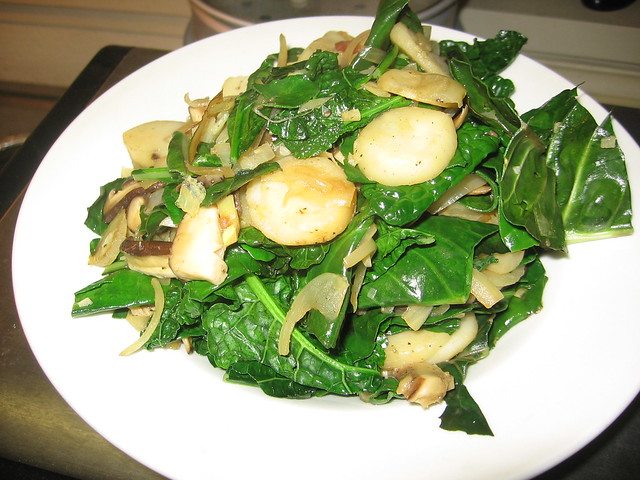 Savory greens stir fry