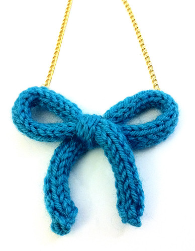 Necklace Wool Turquoise