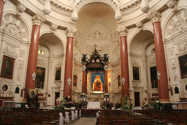 Inside of St. Paul's Anglican Cathedral in Valletta Malta