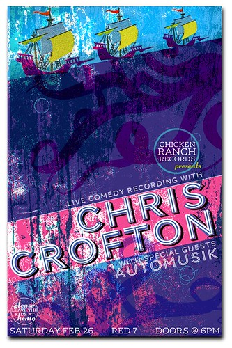 Gigposter for Chris Crofton's Comedy Stand Up