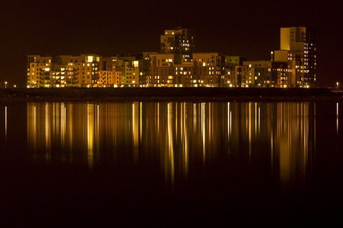 Western Harbour Night Reflections