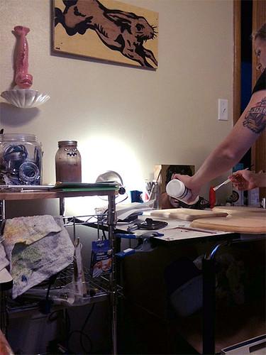 My studio. Art by Van Holmgren.