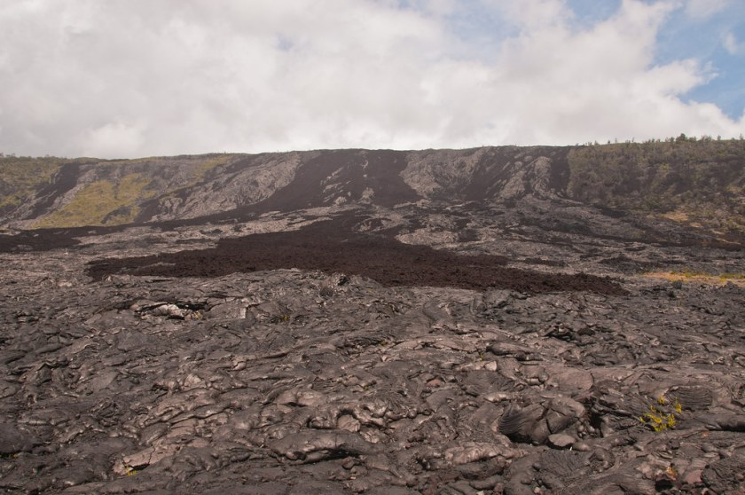 Lava flows came over this cliff to form the land I am standing on