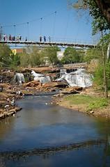 Falls with Liberty Bridge