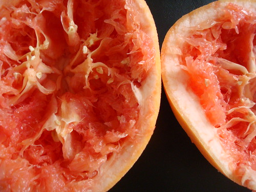 squeezed grapefruit