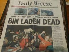 Bin Laden Dead Front Page news!