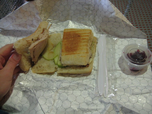 Turkey, Apple, brie panini