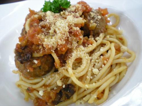Cafe Berbera, spaghetti meatballs 1