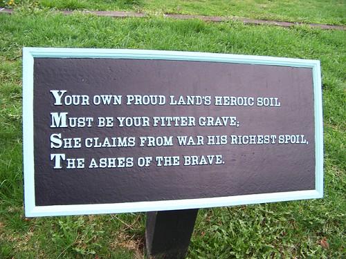 Your own proud lands heroic soil