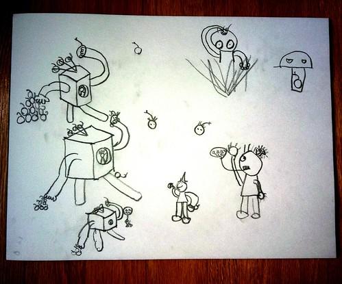 Throwbots versus Zombies