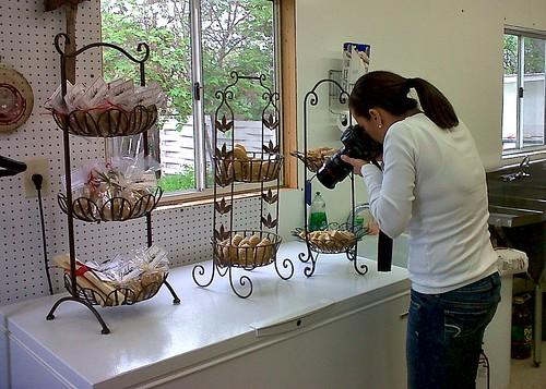 Pauline shooting the beeswax