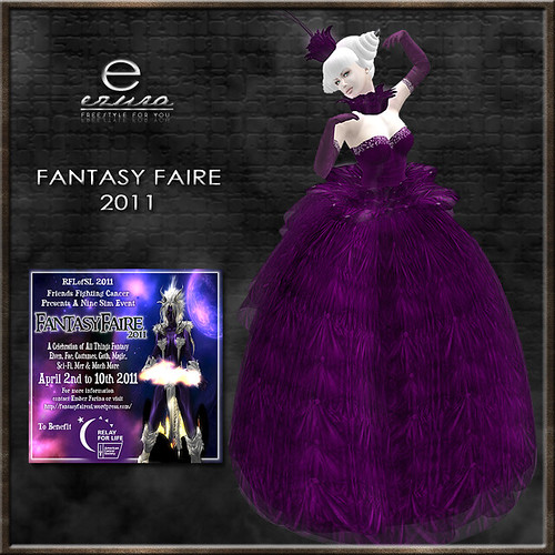 + ezura + FF Shania Gown *Purple for RFL auction