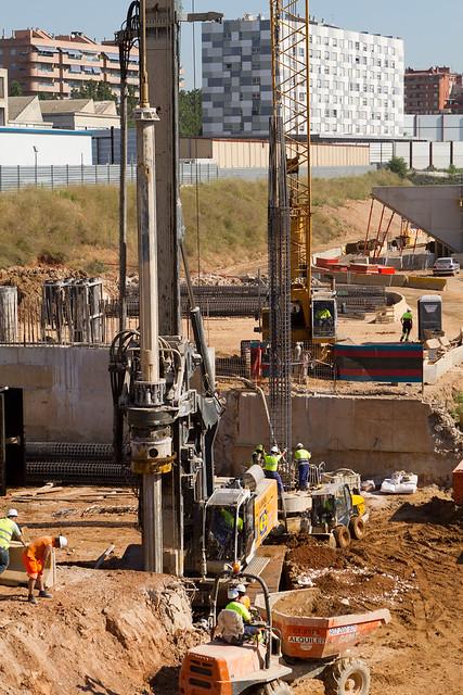 Entorno Futura Estación de La Sagrera - Obras Metro Linea 9 - 25-05-11
