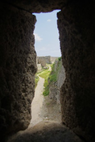 View of the moat from Rhodes Walls