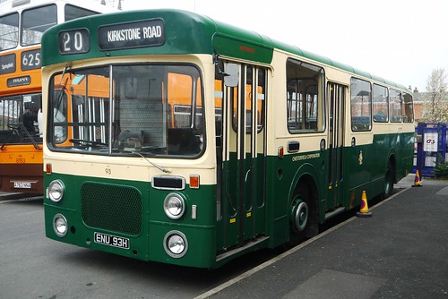 Chesterfield Corporation, Leyland Panther (dual door), Northern Counties body, ENU 93H